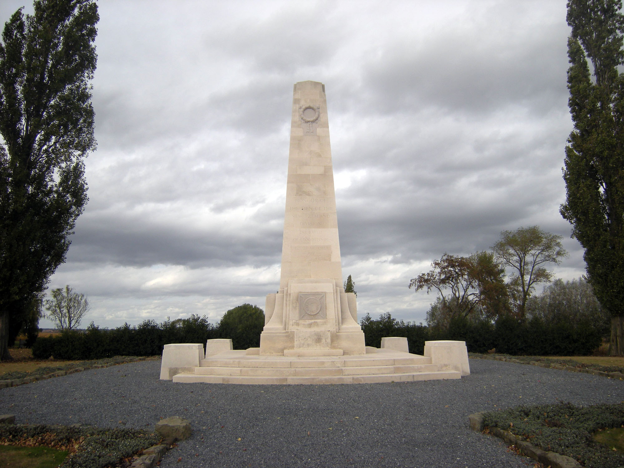New Zealand Memorial, 's Gravenstafel