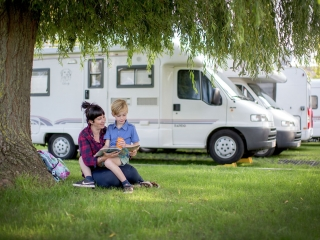On the road with the camping car/motorhome